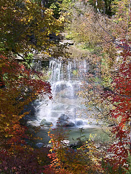 Rock Glen Falls in the Fall
